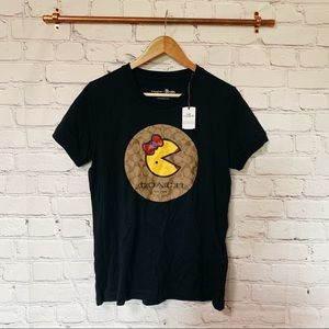 NWT Coach ms pac man black t-shirt